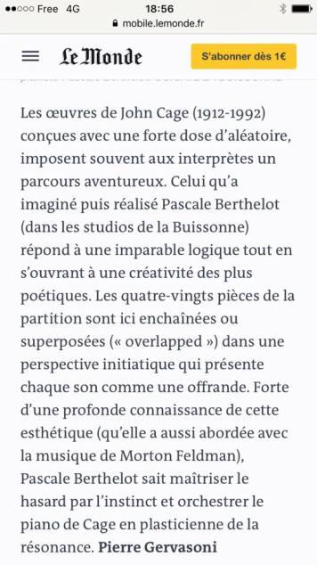 Critique Pierre Gervasoni , Le Monde 2